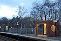 Platform furniture, Halewood railway station (geograph 3819915).jpg