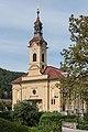 Poertschach Pfarrkirche hl Johannes d T SW-Ansicht 26062016 2880.jpg