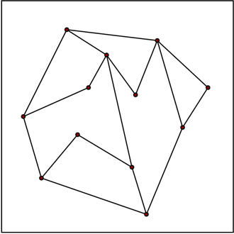 Planar straight-line graph - An example of planar straight-line graph
