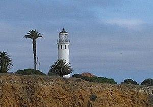 Point Vicente Light - Image: Point vicente light palos verdes detail