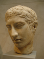 Polykleitos-marble head of a youth.png