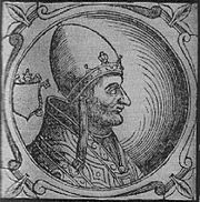 Pope Hadrian IV, who negotiated with Manuel against the Norman King William I of Sicily
