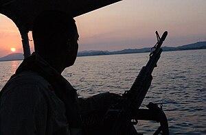 Port Security Unit - Coast Guard Port Security Unit 307 (PSU 307) protecting the port at Guantánamo Bay, Cuba.