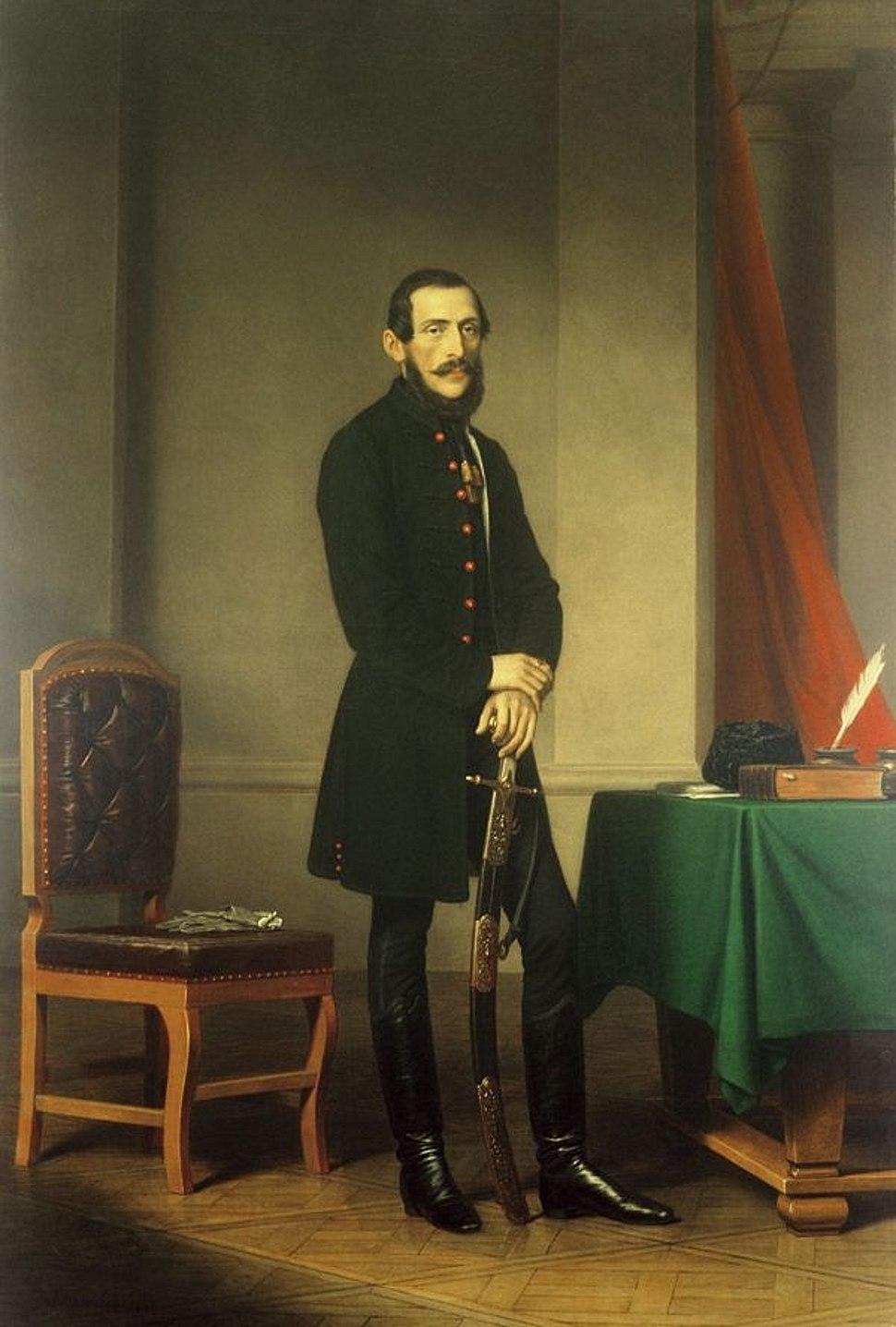 Csány László portréja, Barabás Miklós festménye