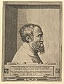 Portrait of Michelangelo in profile facing right set within a recess MET DP821515.jpg