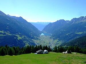 Val Poschiavo - Central part with Lago di Poschiavo