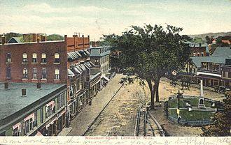 Leominster, Massachusetts - Monument Square in 1907.