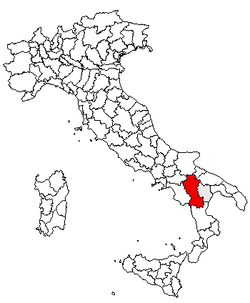 Location of Province of Potenza