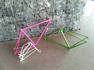 Powder coating - Powder coated bicycle frames and parts