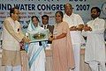 Pratibha Devisingh Patil presenting the Bhoomijal Samvardhan Puraskar, 2007 to Sister Rosily from Holy Cross Social Service Centre, Hazaribag Jharkhand, at the 'National Ground Water Congress-2007', in New Delhi.jpg