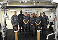 Pre-commissioning Unit Gerald R. Ford (CVN 78) opens ship's gyms 150702-N-AO748-002.jpg