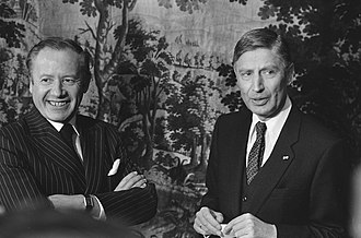 Dries van Agt - Dries van Agt and Prime Minister of Luxembourg and incoming President of the European Commission Gaston Thorn in 1980.