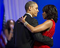 President Barack H. Obama, center, and first lady Michelle dance during a performance by Jennifer Hudson at the Commander in Chief's Ball at the Washington Convention Center in Washington, D.C 130121-A-TT930-040.jpg