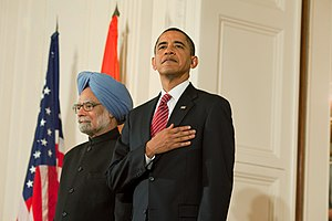 President Barack Obama and Prime Minister Manm...