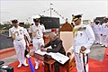 President Ram Nath Kovind awards the President's Colour to the Submarine Arm of Indian Navy (6).jpg