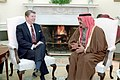 President Ronald Reagan and King Fahd of Saudi Arabia meeting in the Oval Office.jpg