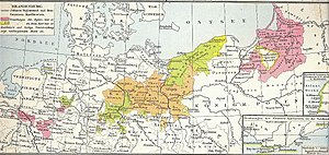 Province of Pomerania (1653–1815) - Brandenburg-Prussia (1618–1680) with Farther Pomerania (Hinterpommern, light green), Draheim (yellow), Lauenburg-Bütow (yellow) and the strip along the Oder (yellow). Year of incorporation indicated.