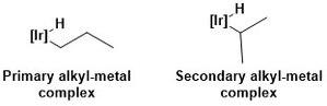 Borylation - Primary versus secondary metal-alkyl complex