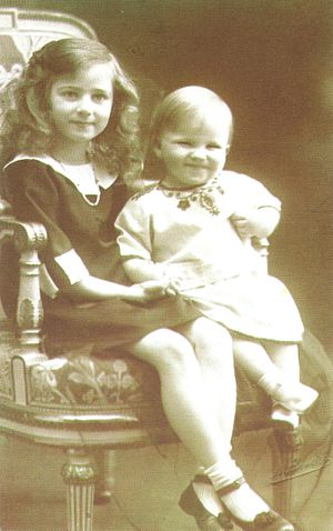 Prince Mircea of Romania - Image: Princess Ileana and Prince Mircea