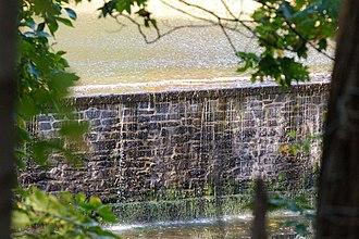 Princeton Ice Company - The upper dam of the Princeton Ice Company, built 1902