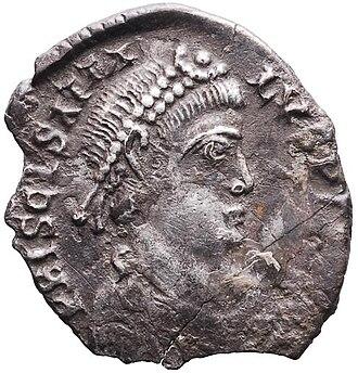 Priscus Attalus - Coin of Priscus Attalus.