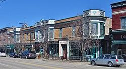 El edificio Proctor en Libertyville (1903), tomada en marzo de 2013