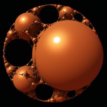 A 3D Appolonian gasket (more infos in the file description)