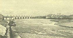 El puente de Calicanto sobre el río Mapocho fue el principal símbolo de la ciudad de Santiago tras su inauguración en 1779.