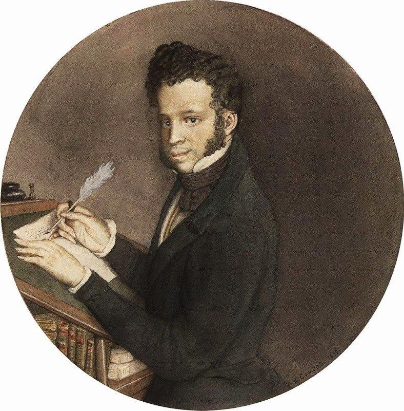 Pushkin portrait by somov