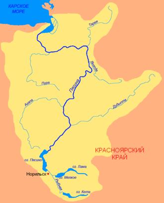 Pyasina River - Basin of the Pyasina