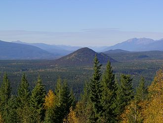 Wells Gray-Clearwater volcanic field - A view from Green Mountain with Pyramid Mountain in the distance