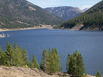 Montana - Quake Lake was created by a landslide during the 1959 Hebgen Lake earthquake.