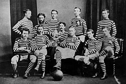 The 1874 Queens Park Team That Won Scottish Cup