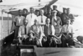 Queensland State Archives 5786 Hon J C Peterson and party on board Melbidir II June 1931.png