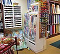 Quilt making supplies shop, interior - geograph.org.uk - 1716250.jpg