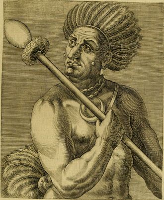 Cunhambebe - Cunhambebe, as portrayed by André Thevet, French cosmographer who accompanied the expedition by Nicolas Durand de Villegaignon.