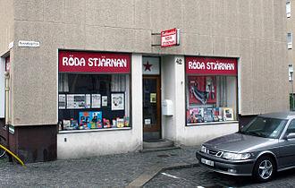Communist Party (Sweden) - The party's book shop Röda Stjärnan (Red Star) in the city of Karlshamn