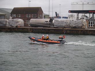 Atlantic 21-class lifeboat - Atlantic 21 B-582 in Poole Harbour in 2007