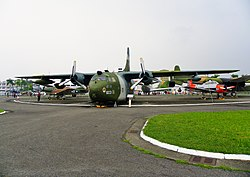 ROCAF C-123 in Military Airplanes Display Area 20111015.jpg