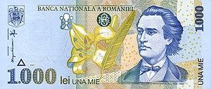 former 1000 lei bill