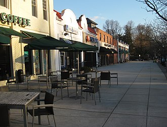 Roland Park, Baltimore - Shops along Roland Avenue, about half a mile north of the shopping center