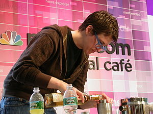 Rachel Maddow - Maddow makes cocktails during the show