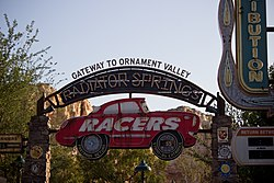 Radiator Springs Racers entrance sign.jpg