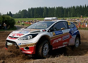 Super 2000 - Image: Rally Finland 2010 shakedown Martin Prokop 1