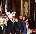 Ram Nath Kovind, the outgoing President, Shri Pranab Mukherjee, the Vice President, Shri M. Hamid Ansari, the Speaker, Lok Sabha, Smt. Sumitra Mahajan and the Chief Justice of India, Shri Justice J.S. Khehar.jpg