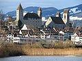 Rapperswil - Schloss-Stadtpfarrkirche - Seedamm - Holzbrücke IMG 5253.JPG