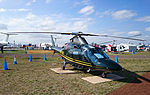 Raytheon Australia (VH-RUA) Agusta A109E on display at the 2015 Australian International Airshow.jpg