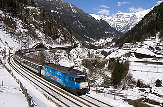 InterRegio - InterRegio train in the Swiss Alps