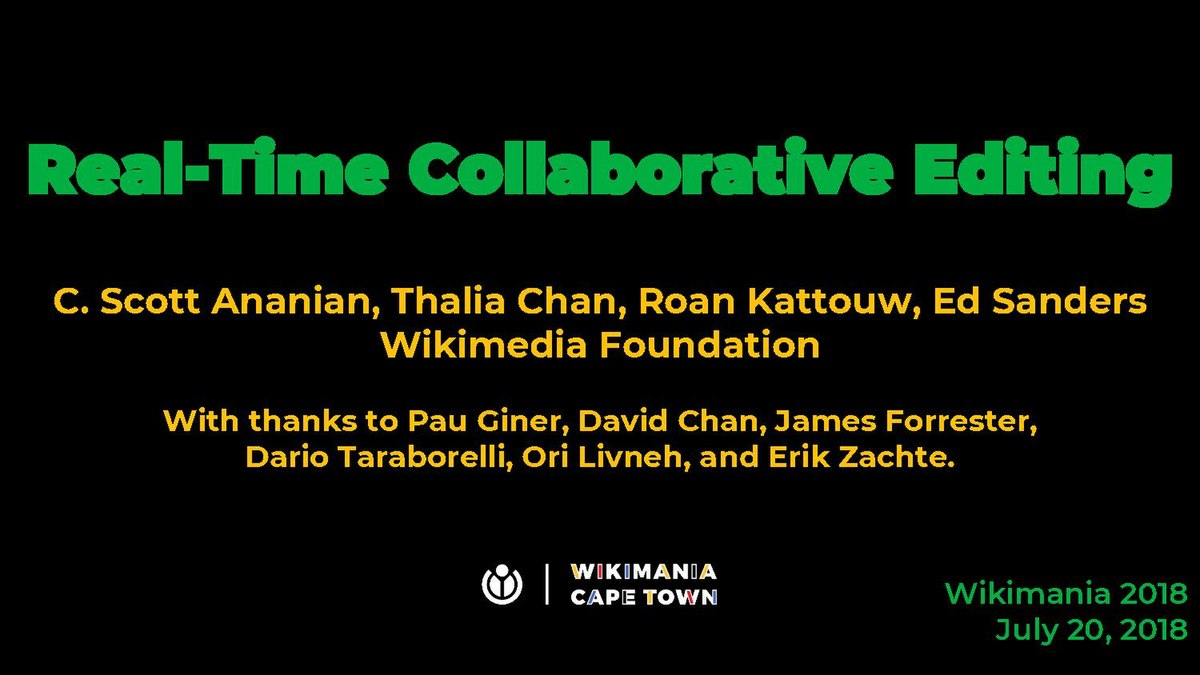 Program/Real-Time Collaboration: Connecting Humanity - Wikimania
