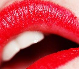 Red lipstick (photo by weglet)